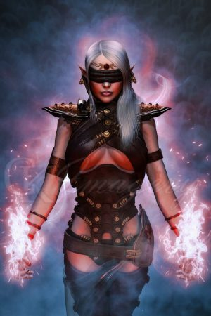 Dark Elf mage by #CKImagery