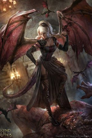 Cryptids Art | Dragon Princess Saggan by Billy Christia...