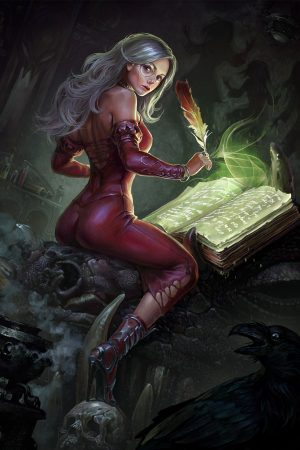 Fantasy Sexy Art | Grimoire writer Eirene by Igor_Grechanyi
