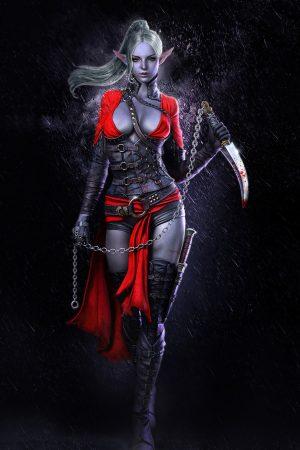 Dark Elf Assassin 3D character artwork by Mj Kim