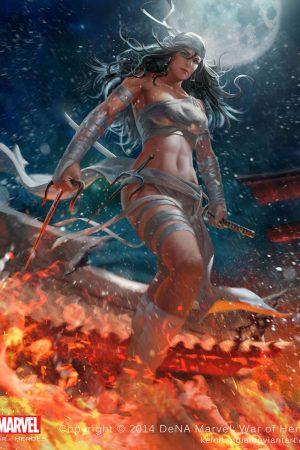 Illustration | Elektra (Marvel war of heroes) by Cuong ...
