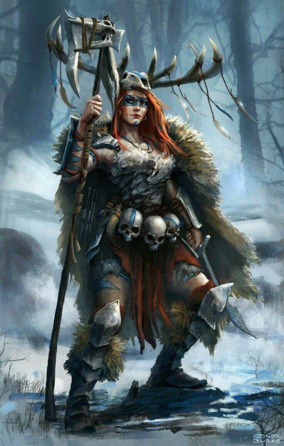 Female warrior by Conor Burke