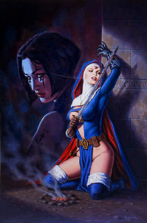Nun With Sword by Dorian Cleavenger