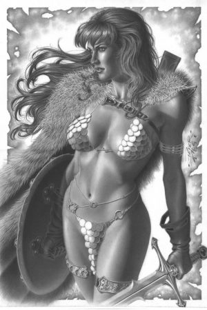 Red Sonja Artwork by Peter Vale