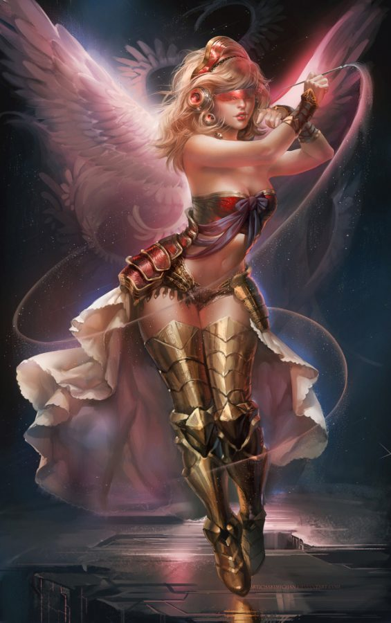 Glactic Angel by Sakimichan