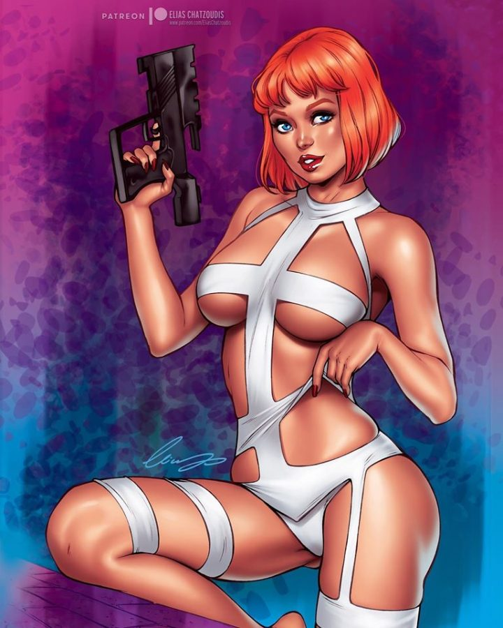 Lilu/Leeloo (The Fifth Element) by Elias Chatzoudis.