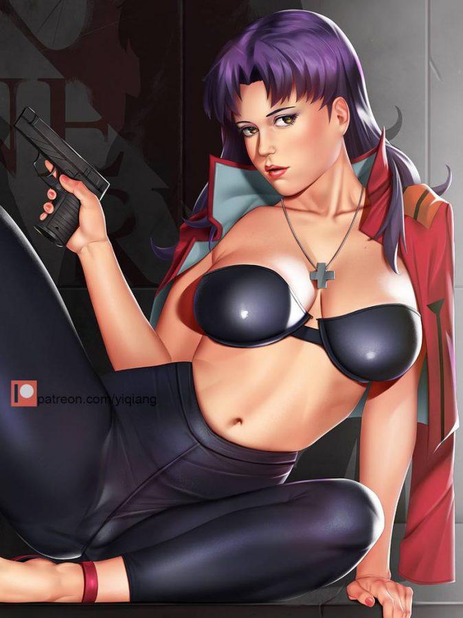 Misato Katsuragi (Evangelion) by Yi Qiang.