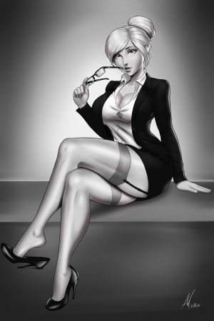Miss Bee Haves (The Pale Secretary) by TrueInsanity.