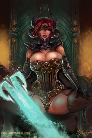 Fantasy Sexy Art | Throne of omnipotence by Mister69M