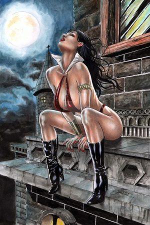 Vampirella artwork by Jonatas Artes